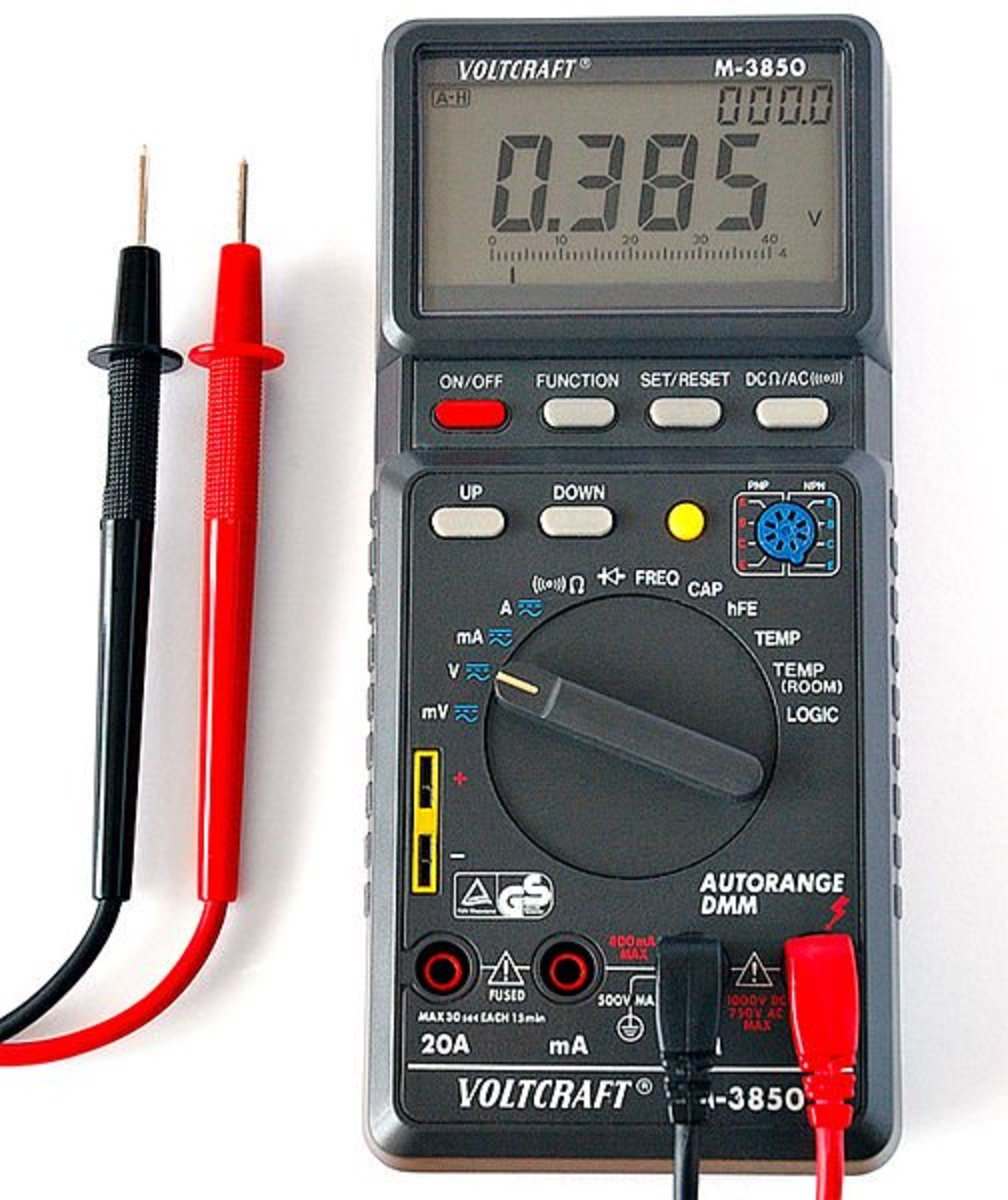 Use a digital multimeter to test your battery and other systems affecting battery charge.