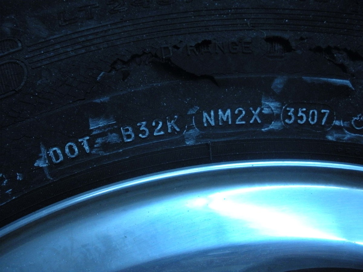In addition to the year of manufacture, this section also tells where the tire was made, and by which maker.