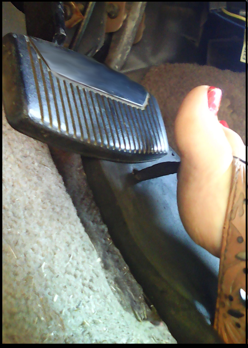 Flip-Flop Caught Under Accelerator Pedal