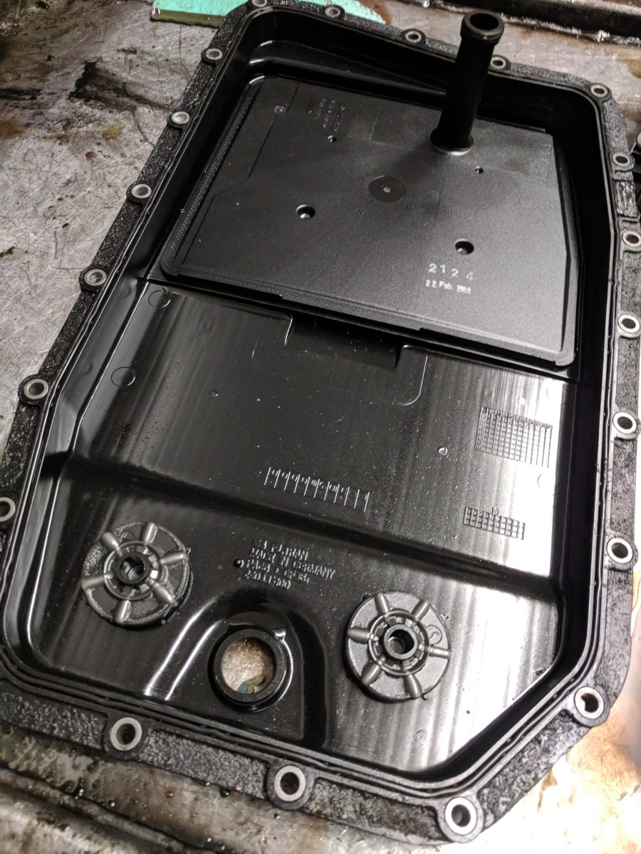 Some filters are built into larger components, such as in the case of this ZF6HP26 filter/sump combination. In these cases, the whole sump must be replaced in order to change the filter.
