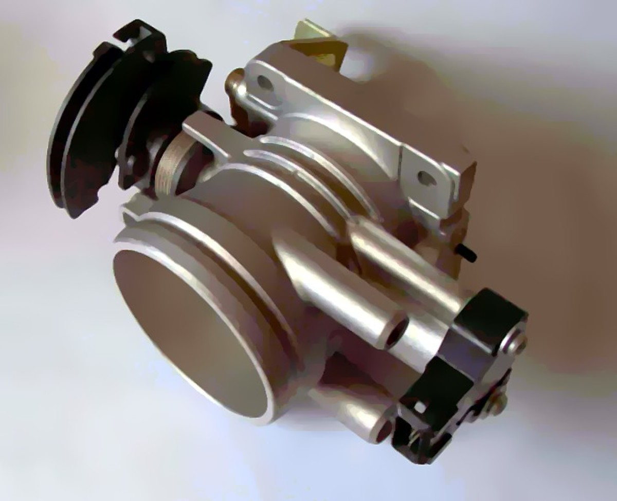 Find the TPS mounted to one side of the throttle body.