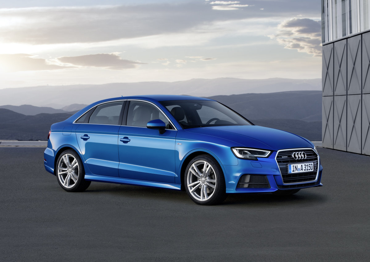 The Audi A3 gets a turbocharged 2.0-liter four-cylinder engine with 186 horsepower.