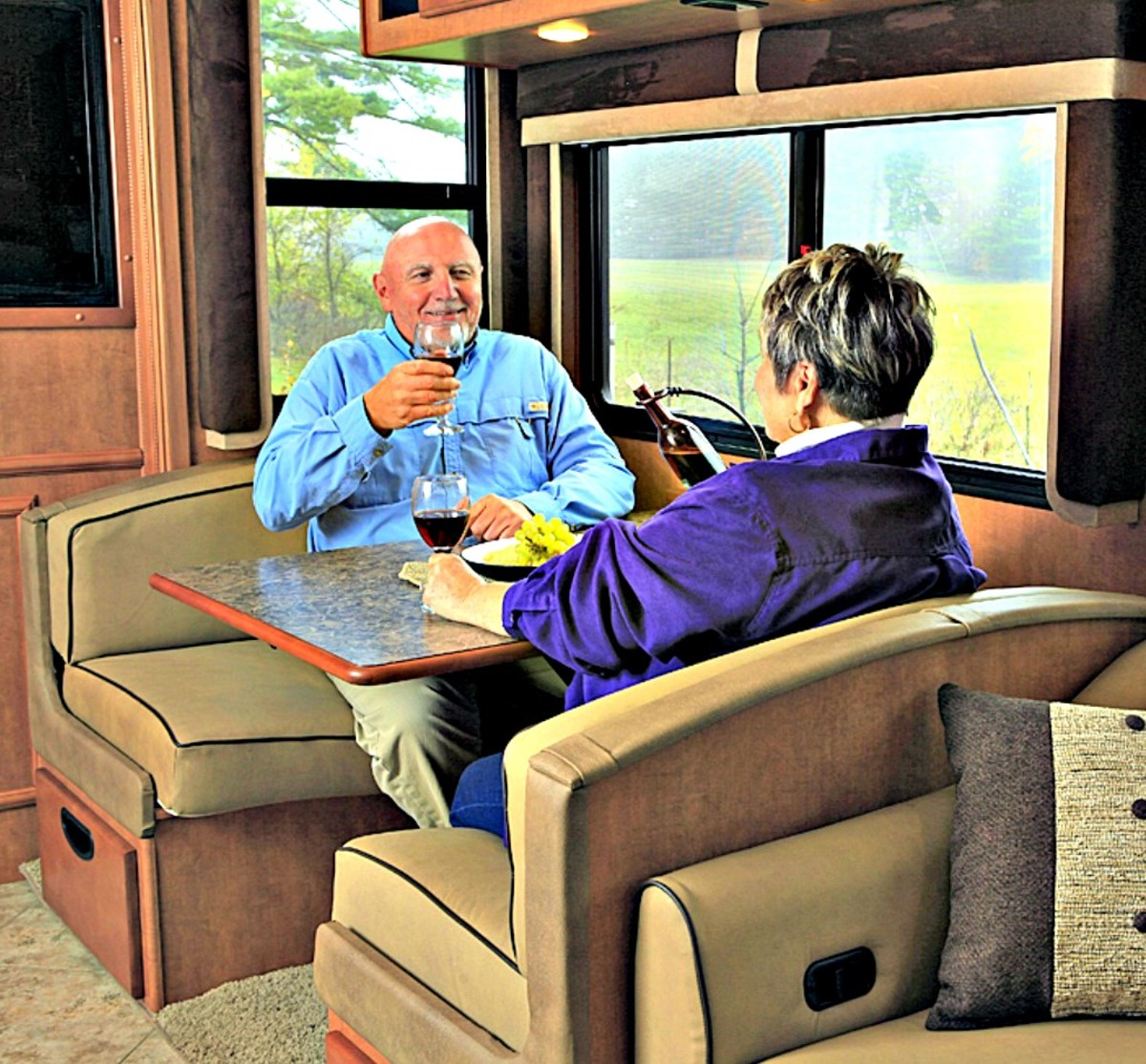 It is important to make your RV as comfortable as possible when traveling in it.