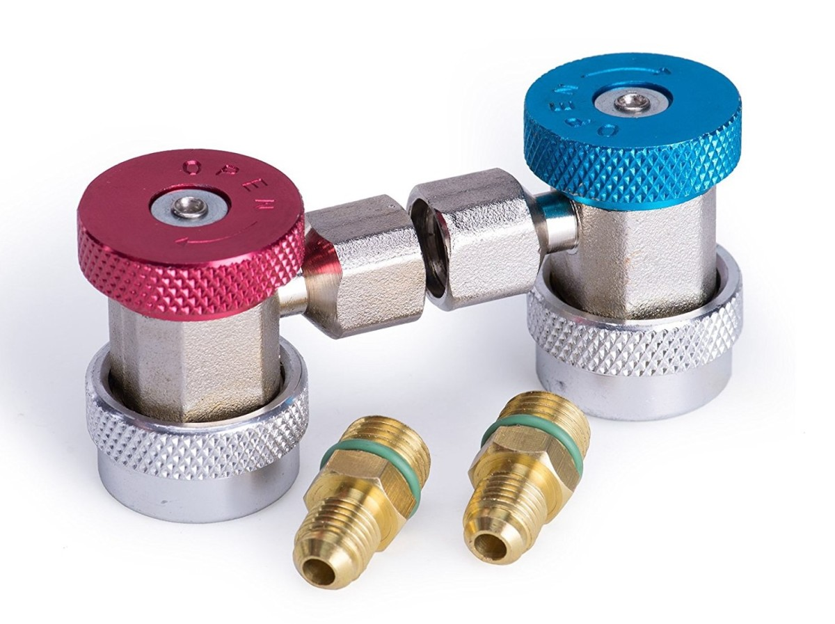 (c) AC high- and low-pressure quick-connect couplers