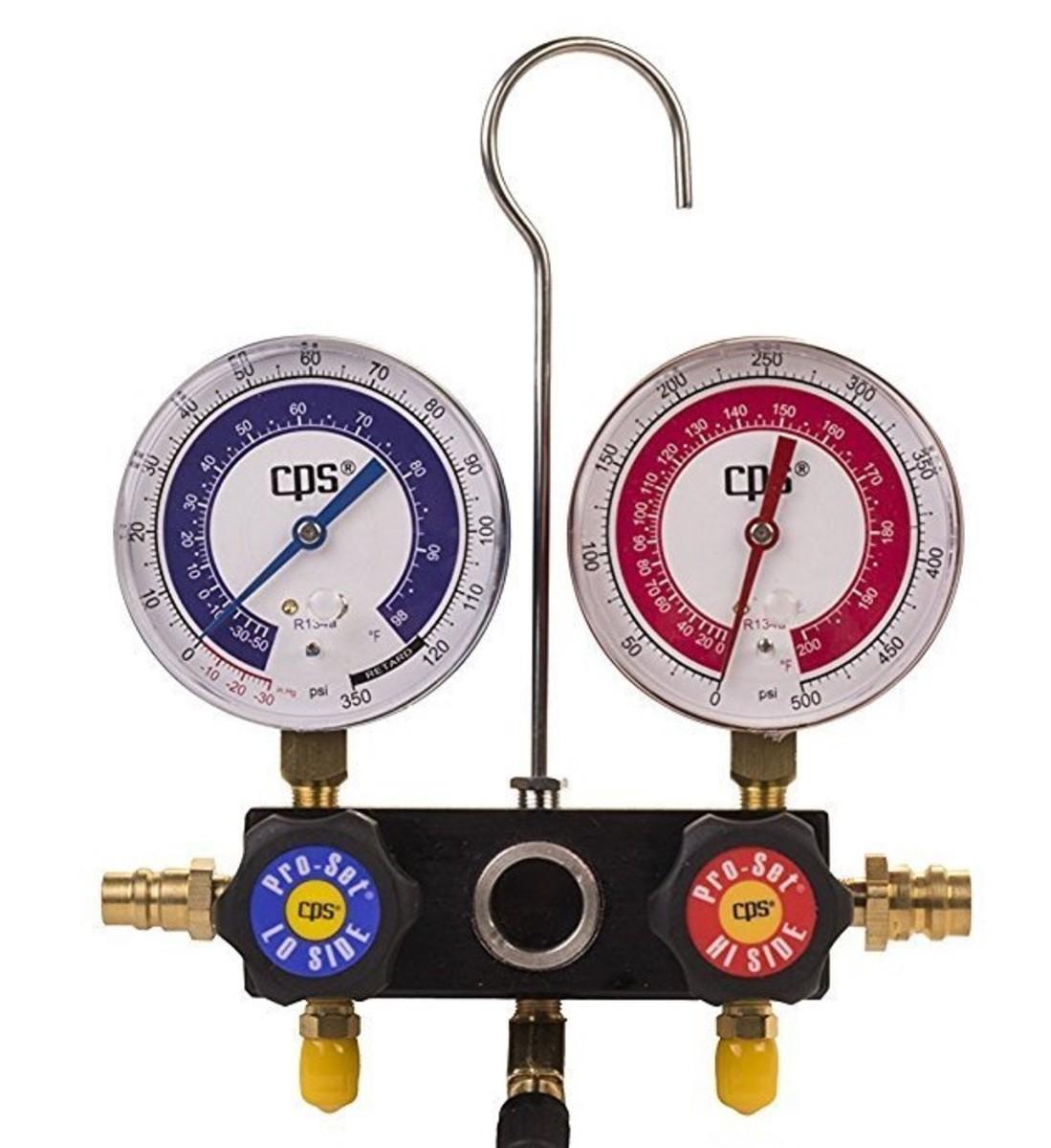 (d) AC manifold gauge