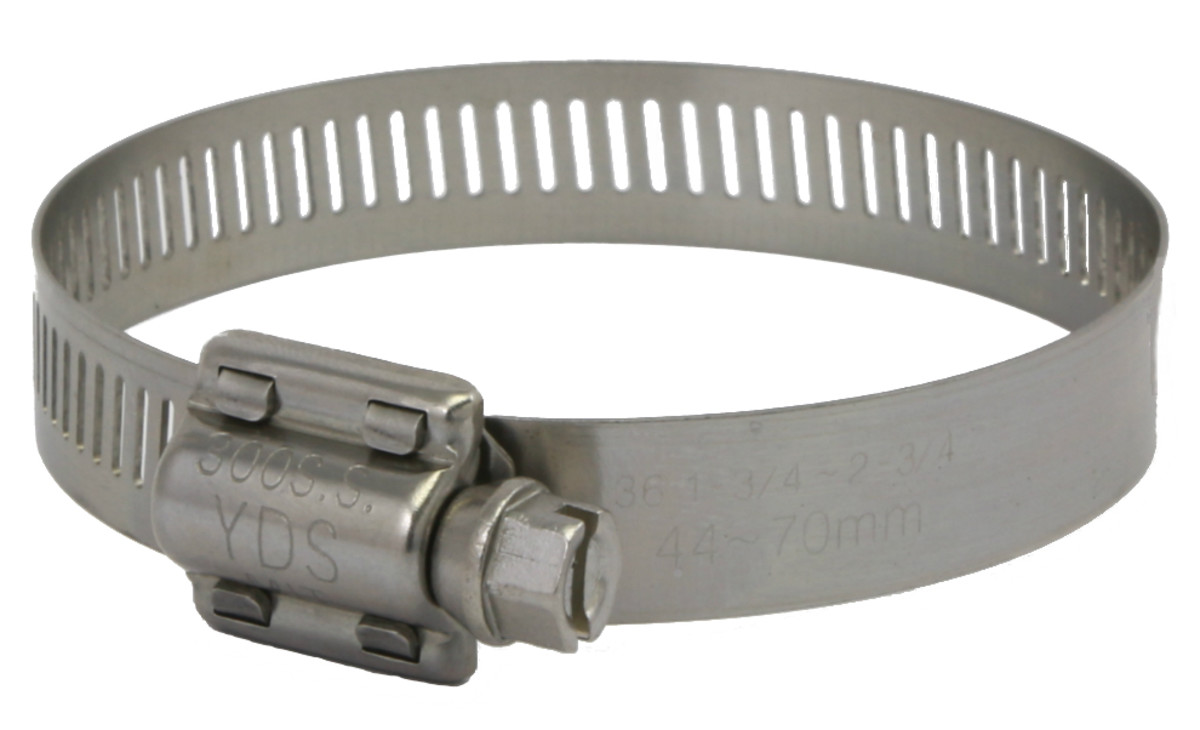 Worm clamp for hoses