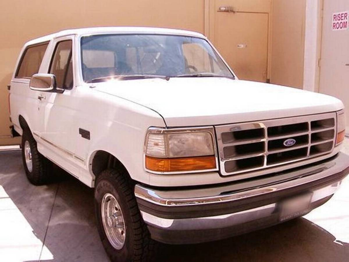 The Bronco from the Slow Speed Chase of '94