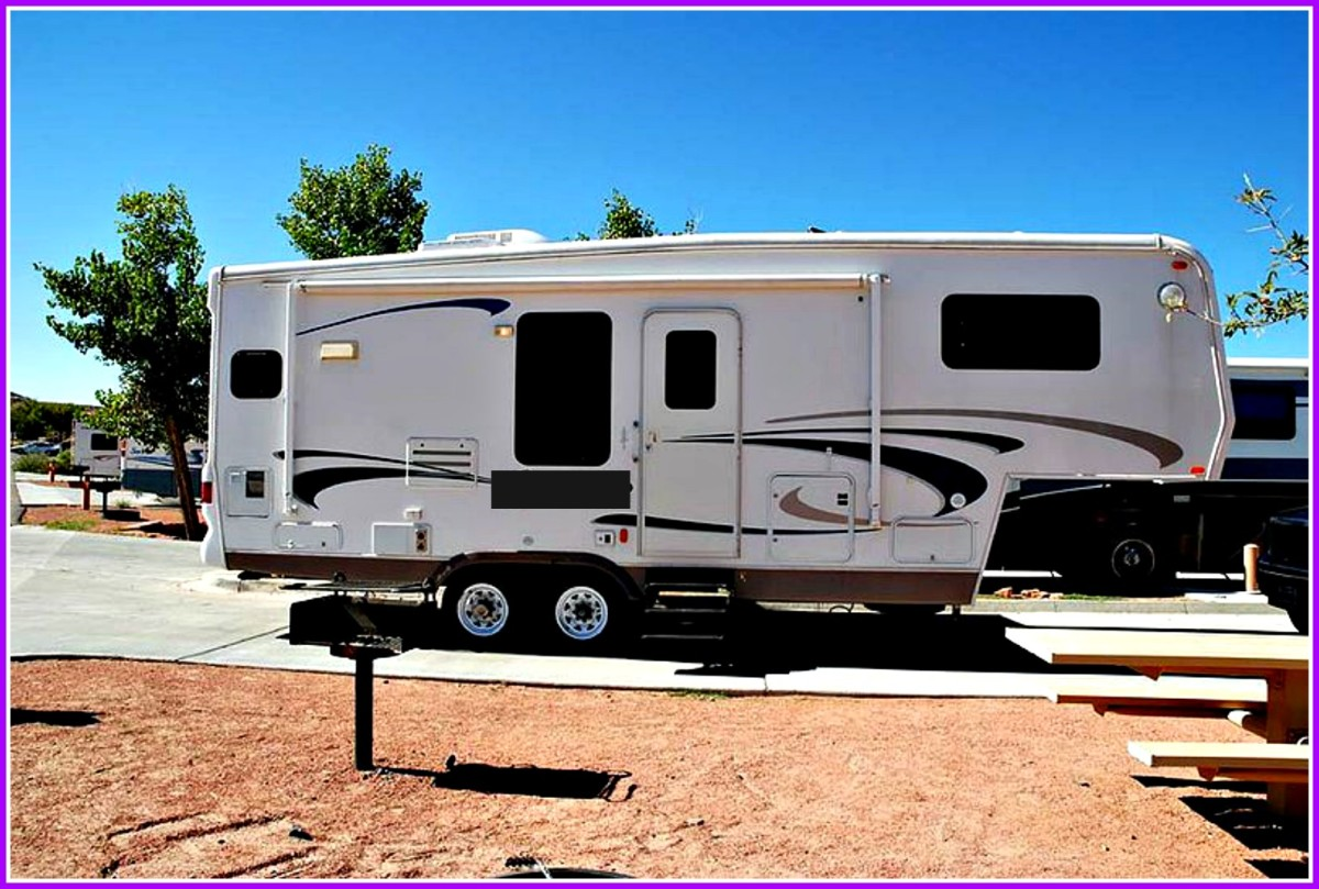 A fifth wheeler makes a perfect full time living home.