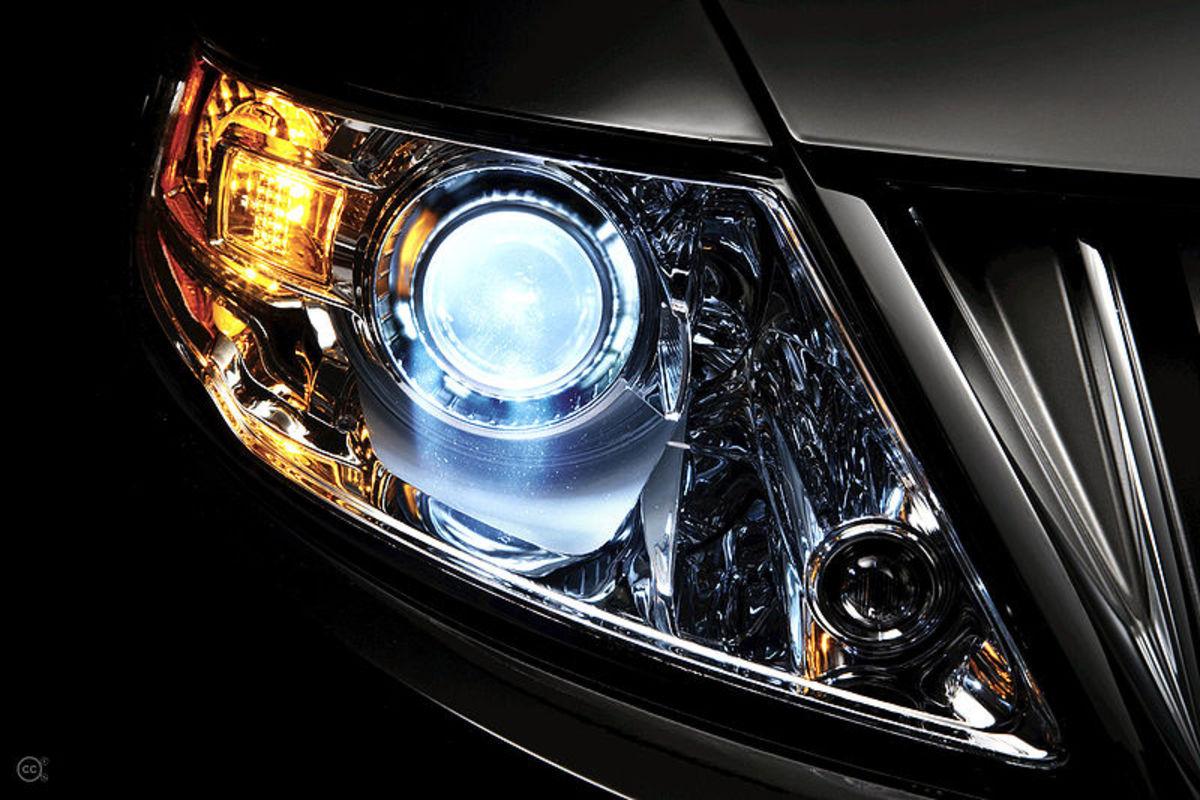 A modern HID headlight.