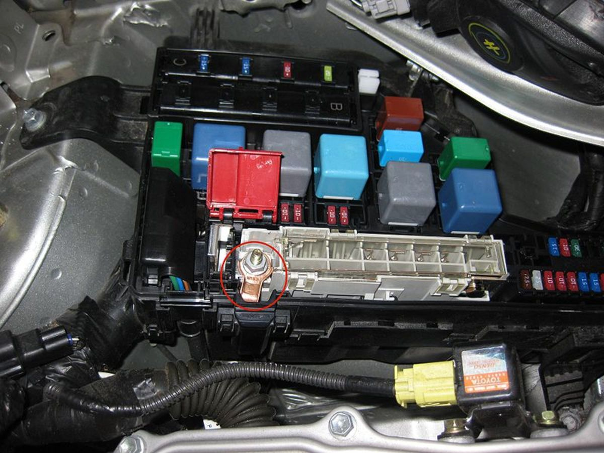Locate your car's power distribution or fuse box.