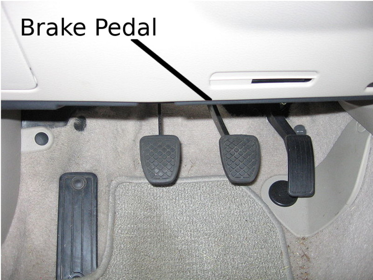 Check the brake pedal mechanism and the push rod the pedal connects to.