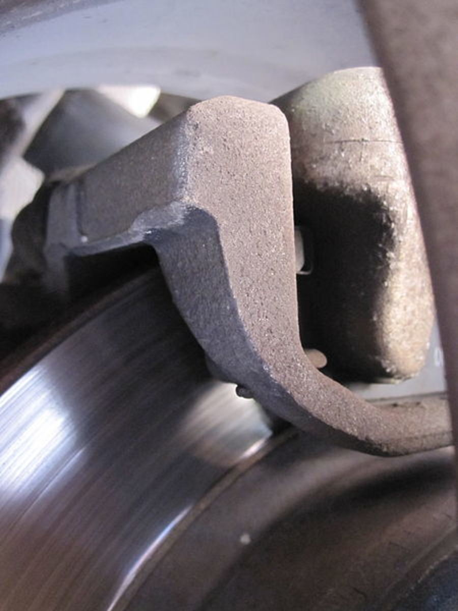 Take a close look of the caliper assembly and watch for corrosion and possible mechanical problems.