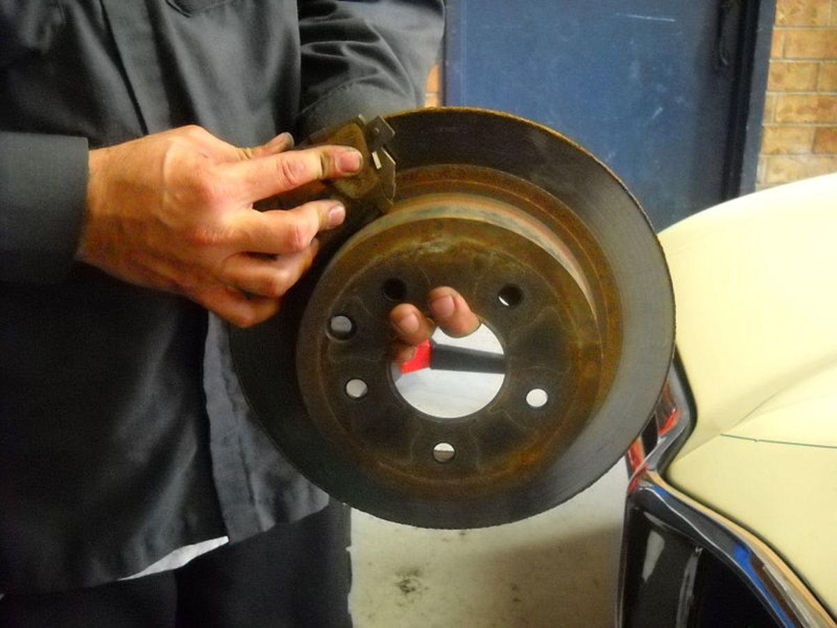 Corrosion around the brake rotor and brake pads is a common problem on stuck calipers.