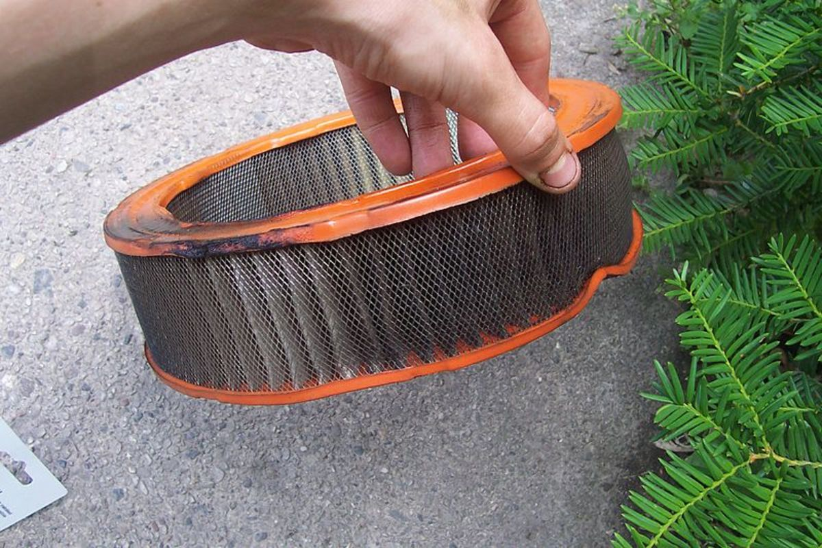 A worn out or clogged air filter can reduce engine power.