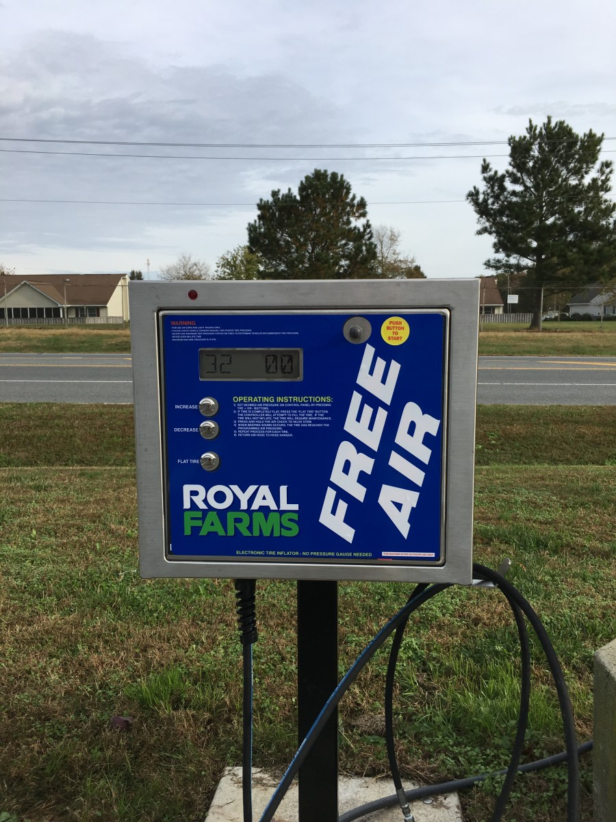 Free Air for Your Tires at Royal Farms