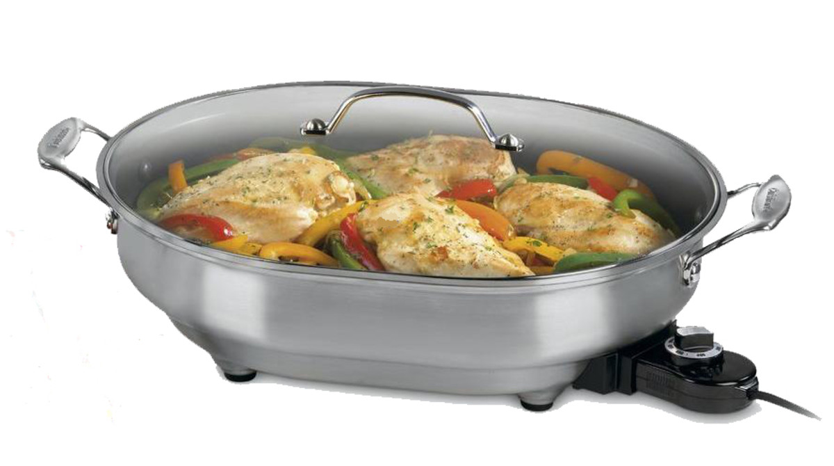 A typical RV appliance, an electric frying pan that you could find in many RVs.