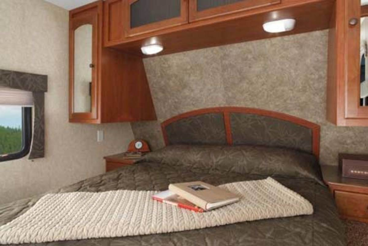 The standard mattress that comes with a travel trailer is typically of poor quality.