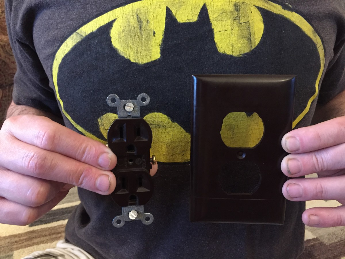 Batman, it would appear, with his 115-volt wall sockets and cover.