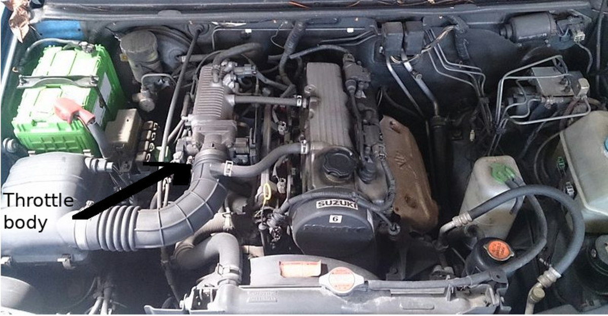 Look for the idle air control valve or throttle position sensor hooked up to the throttle body.