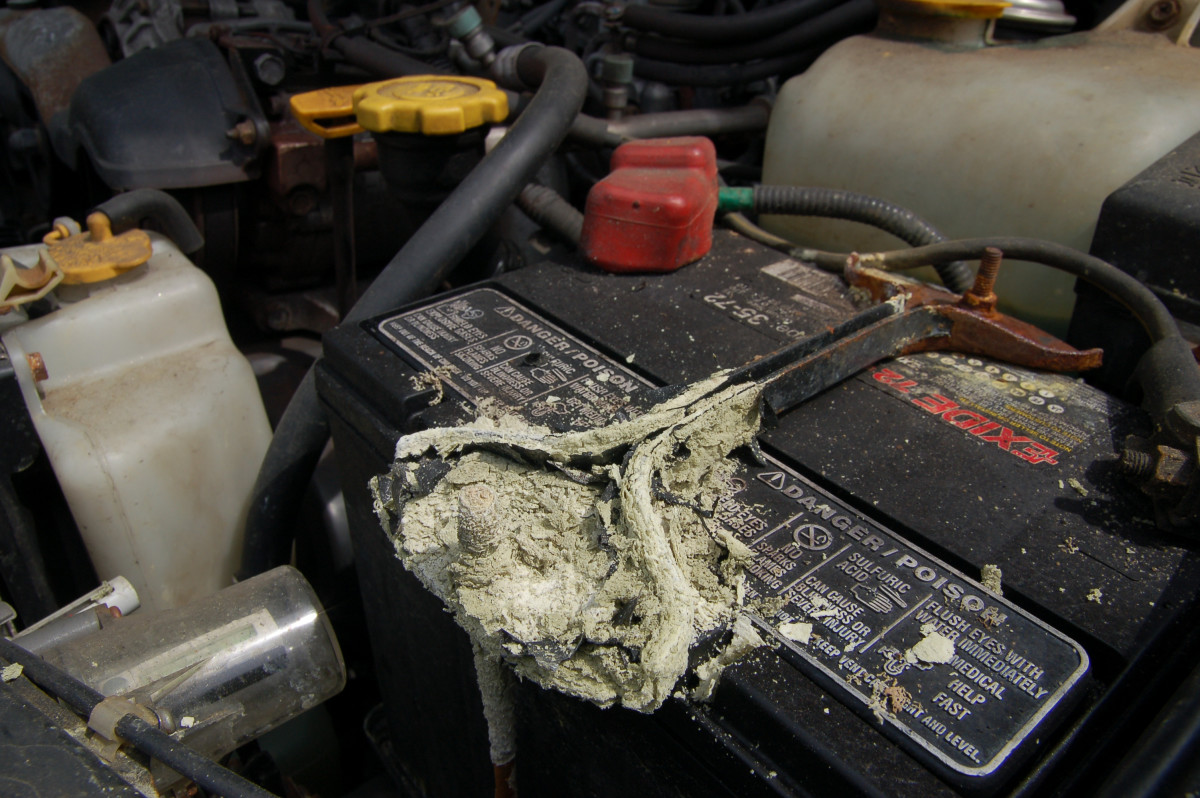 Corrosion causes electrical resistance and prevent the alternator from charging the battery.