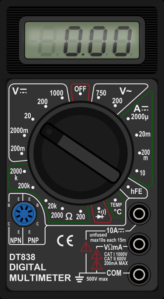 Use a digital multimeter to troubleshoot the IAC motor.