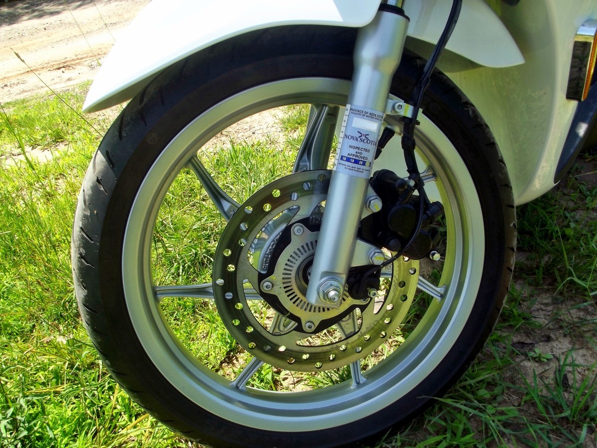 Front wheel of Piaggio Liberty 150