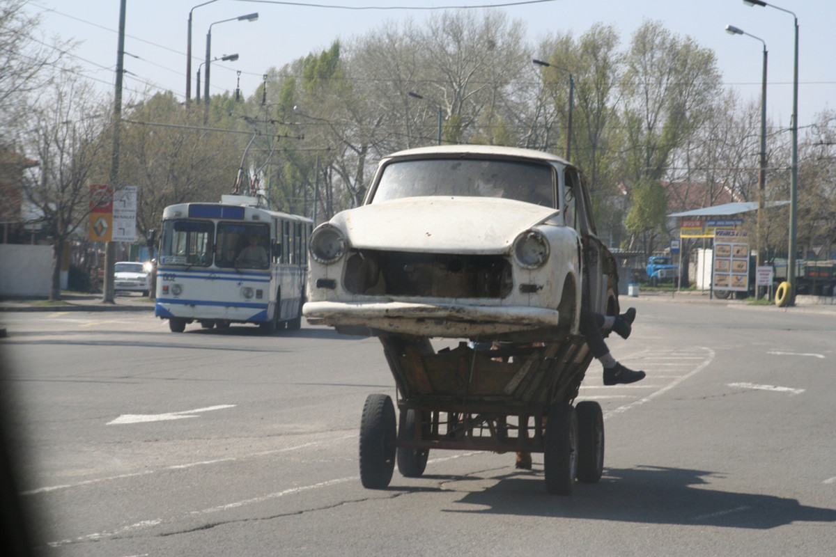 A repurposed Trabi in Bulgaria.
