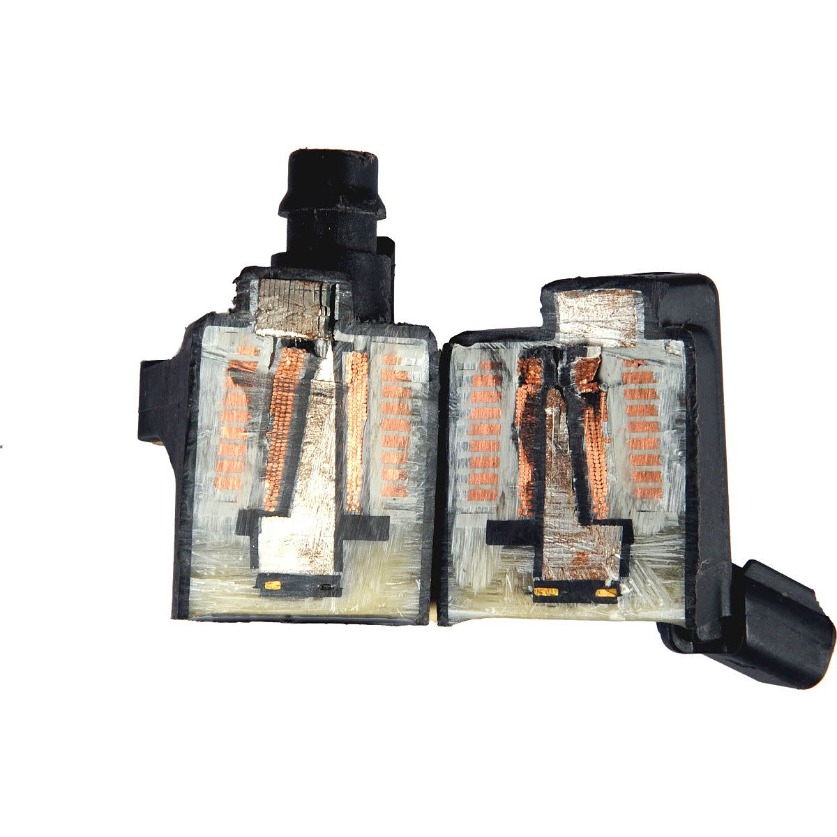 Windings like in this ignition coil can develop electrical opens that cause stalling when warmed.