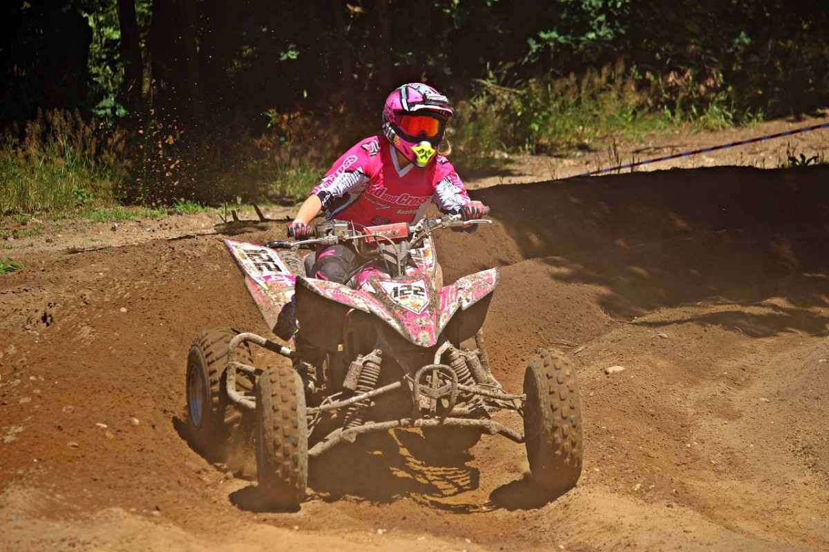 Four-wheelers are available in pink, red and other girl colors that your daughter can enjoy. Give your daughter the chance to drive the four-wheeler.