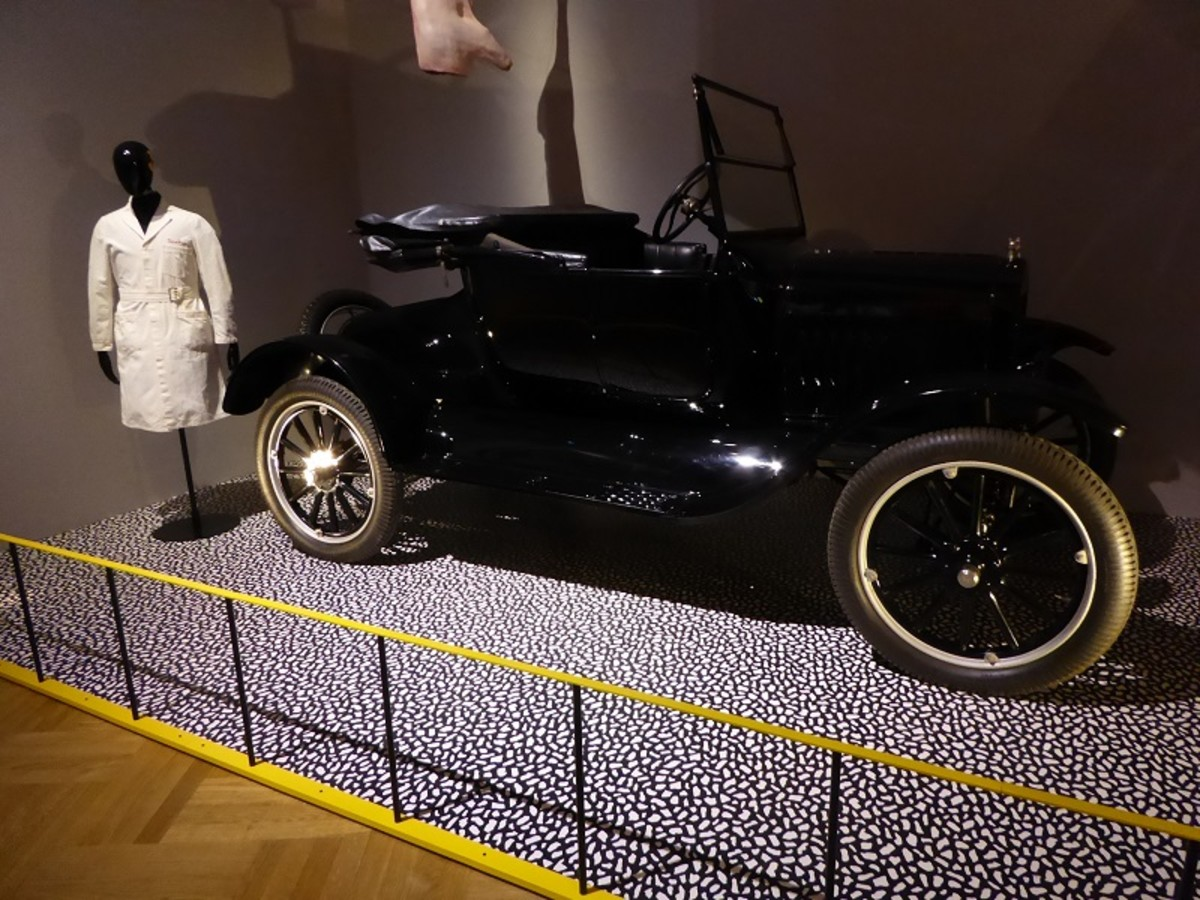 Ford Model T Tourer. Image by Frances Spiegel 2019 with permission from V&A Museum. All rights reserved.