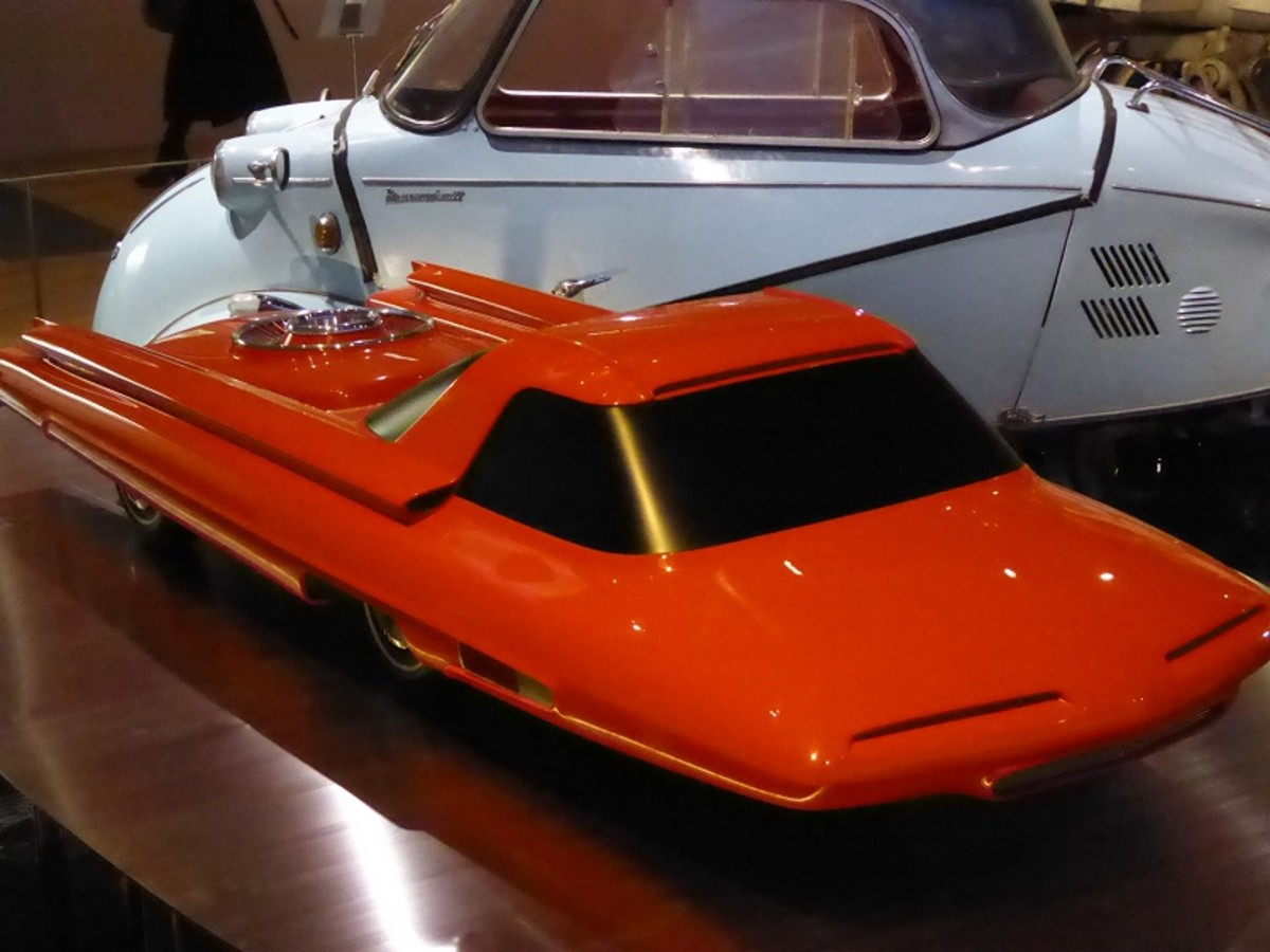 Ford Nucleon Concept Car (Model). Image by Frances Spiegel 2019 with permission from V&A Museum. All rights reserved.