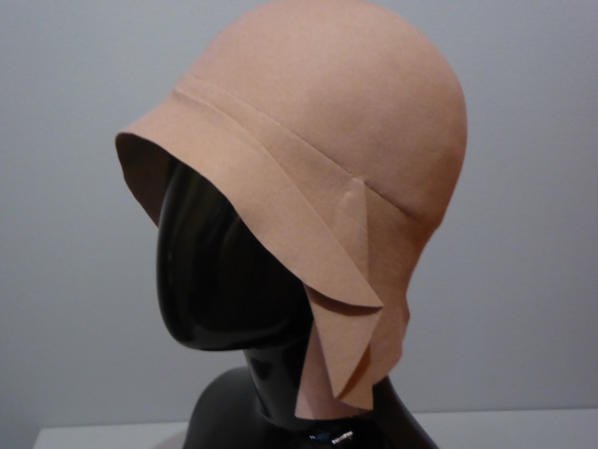 Cloche by Miss Fox 1928-29. Image by Frances Spiegel 2019 with permission from V&A Museum. All rights reserved.