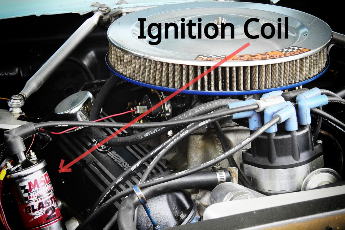 Test the ignition coil positive and negative side.