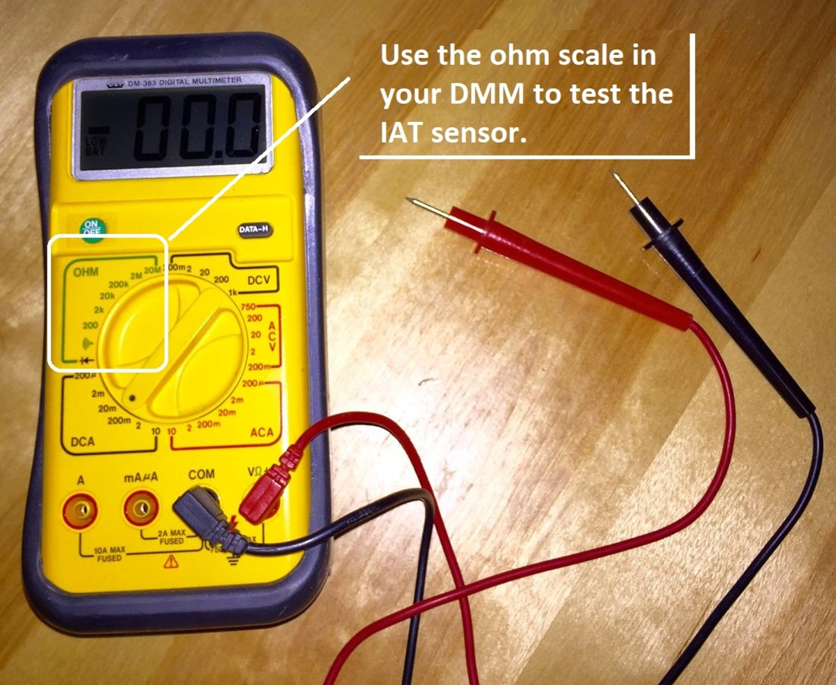 Use the Ohms scale of your multimeter to check the IAT sensor.