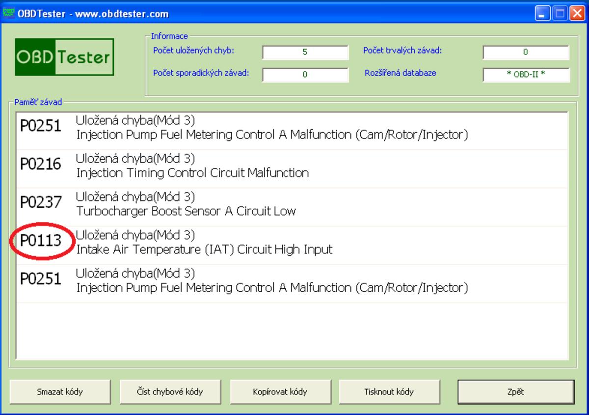 A faulty IAT sensor may trigger a diagnostic trouble code.