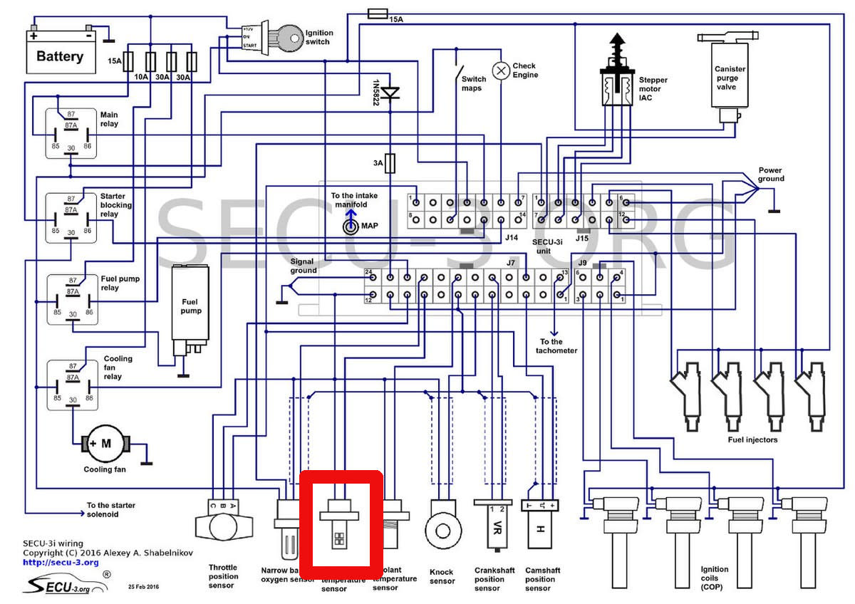 Use the diagram that comes in your vehicle repair manual to check the circuit and identify the wires for the IAT sensor in your car, if necessary.