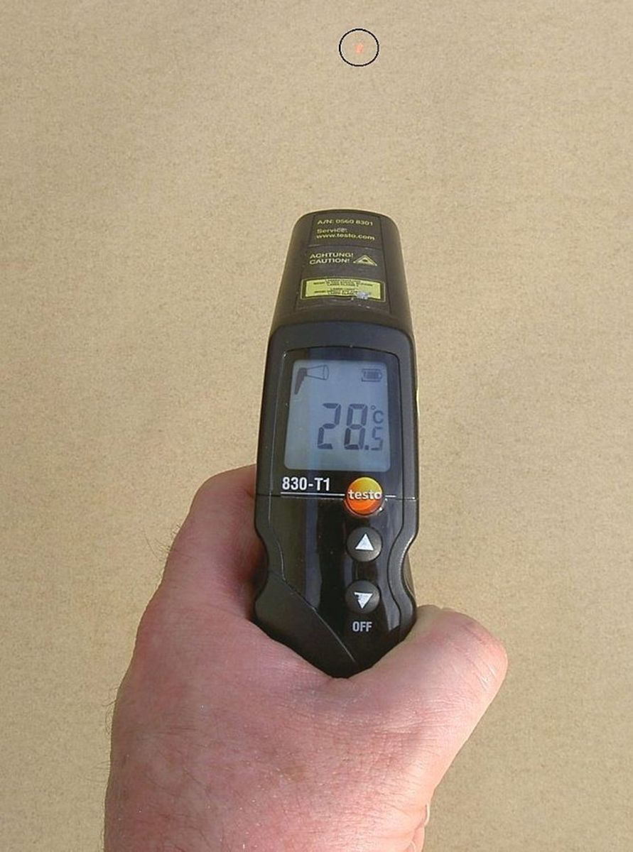 You can use an infrered thermometer or kitchen thermometer to conduct your IAT-sensor test.