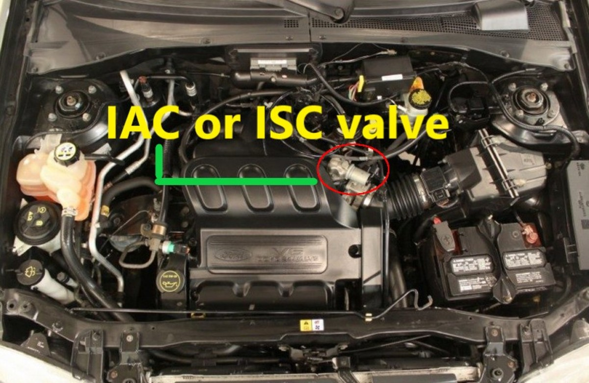 The IAC motor is located next to the throttle body.