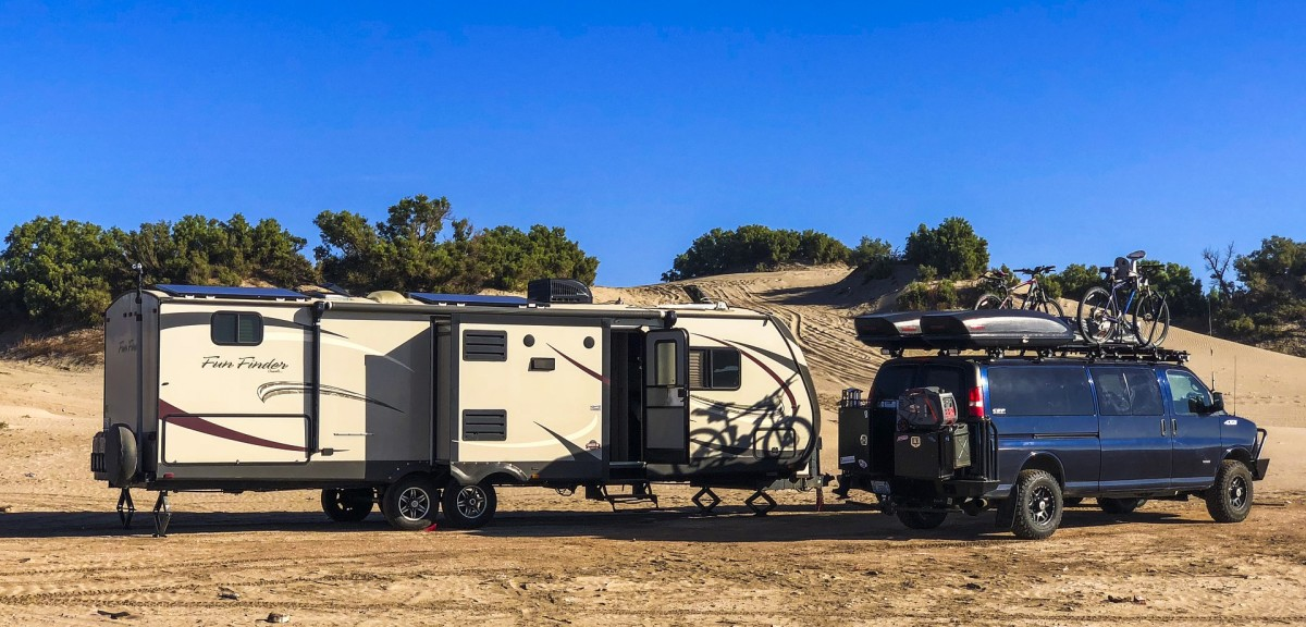 Travel trailers come in small, medium, and large sizes. Live tiny or live large!