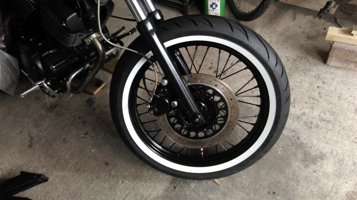 Front wheel back on the bike