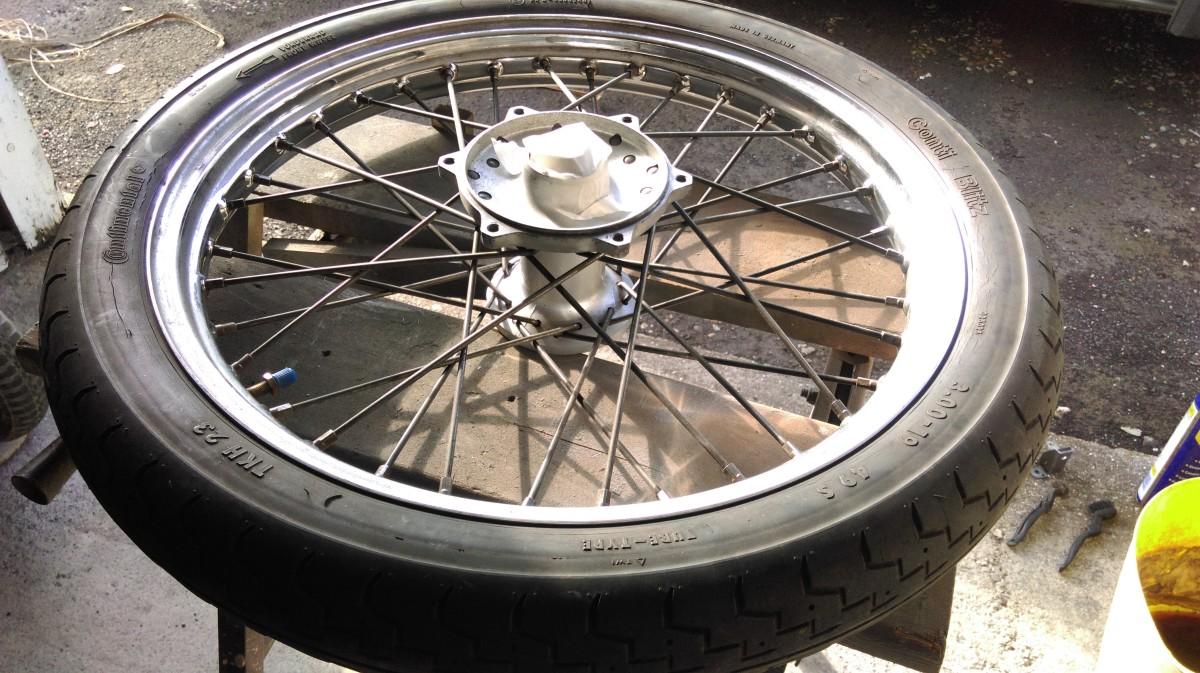 Masked up the wheel bearings