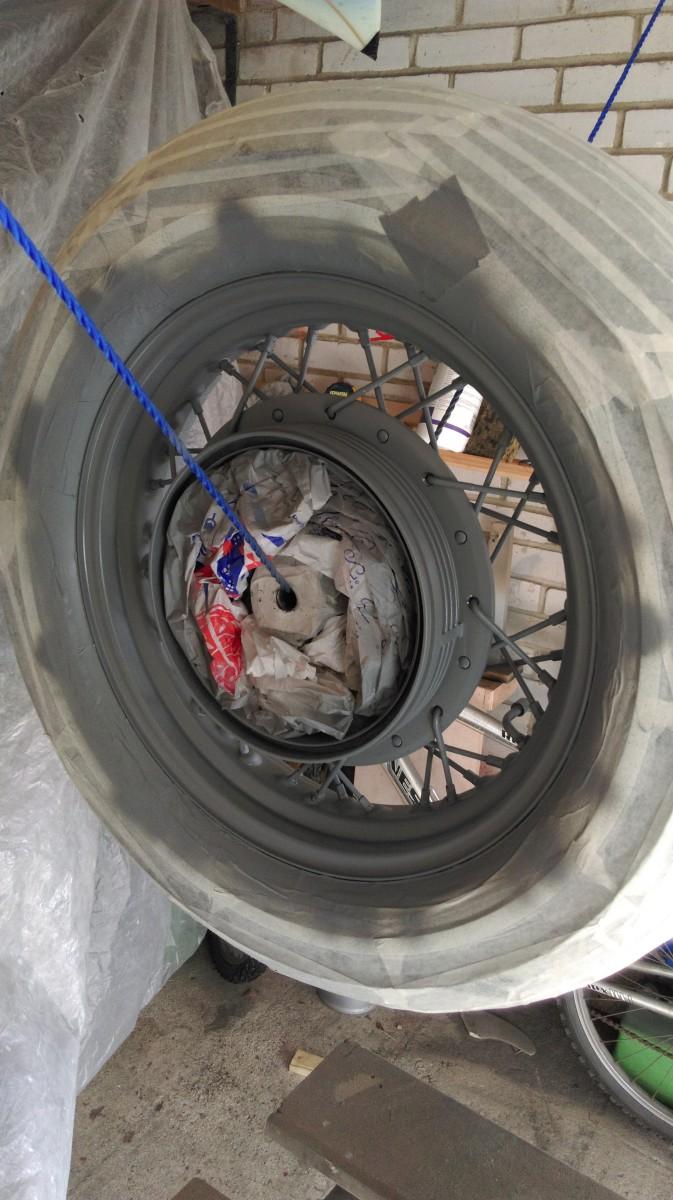 Same again for the rear wheel