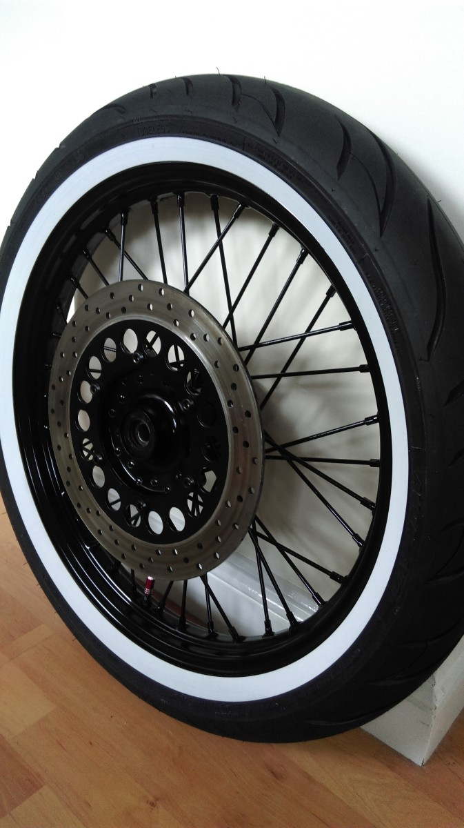 Finished wheel with brake disc mounted