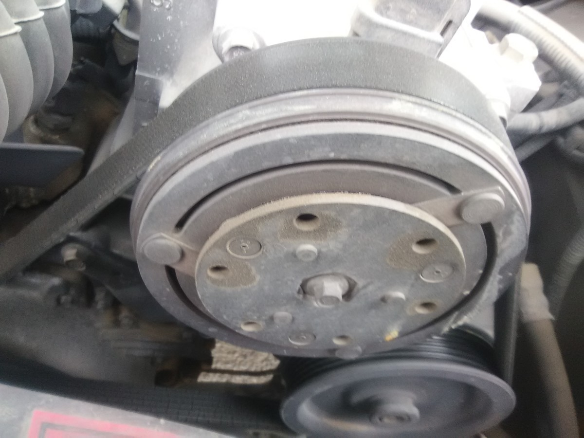 Make sure the compressor clutch is engaging.