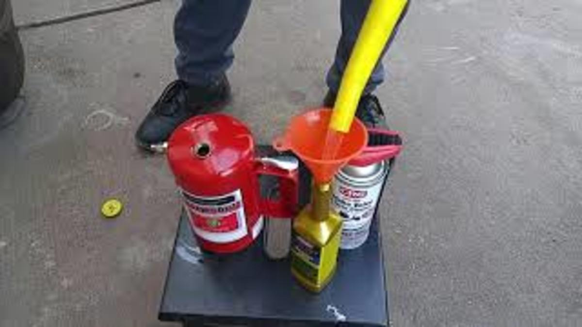 Mixing Gumout Fuel System Cleaner with gasoline