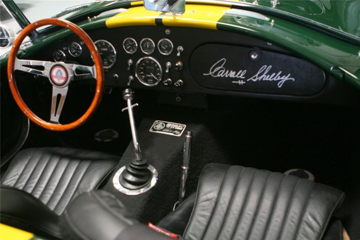 1965 Cobra 427 Interior