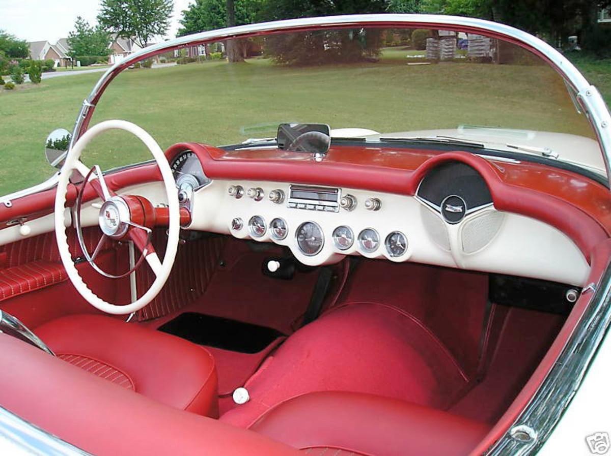 1953 Corvette interior