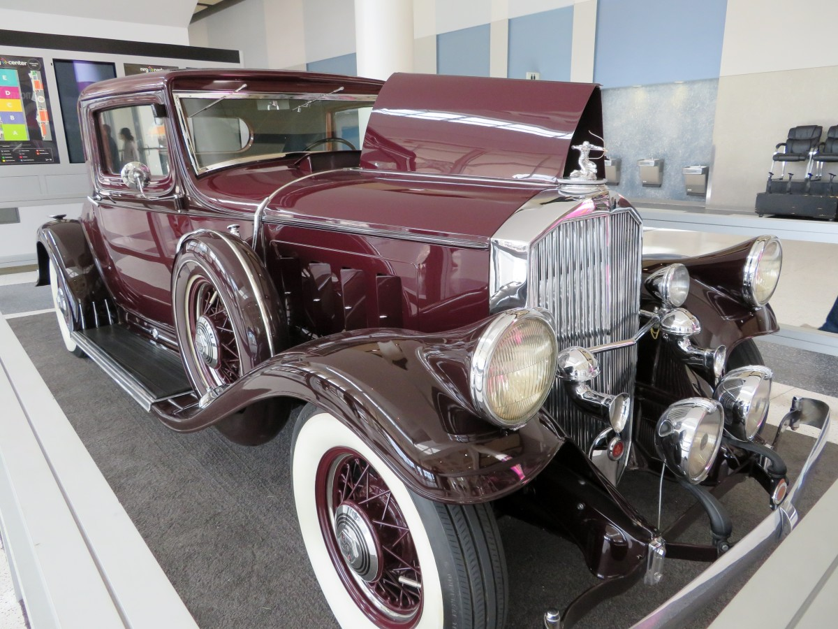 1932 Pierce Arrow on display in the entrance hall of NRG Center