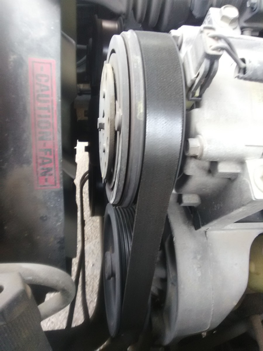 A worn or loose drive belt or serpentine belt may slip and screech around the steering pump's pulley.