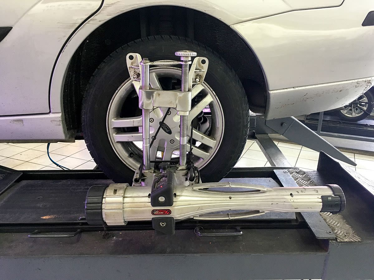 Underinflated tires and bad wheel alignment are two sources of steering wheel pull.